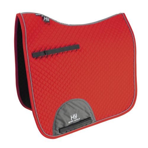 Hy Sport Active Dressage Saddle Pad - Rosette Red - Cob/Full