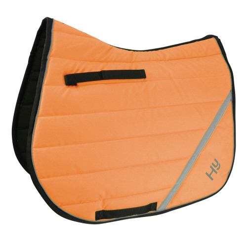 Full View Reflector Comfort Pad by Hy Equestrian in Orange in Pony/Cob Size