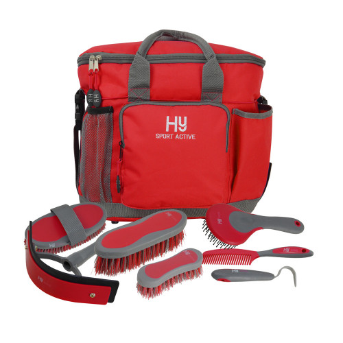 Hy Sport Active Complete Grooming Bag - Rosette Red