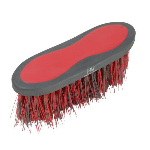 Hy Sport Active Groom Long Bristle Dandy Brush - Rosette Red - 20.5 x 6.2cm