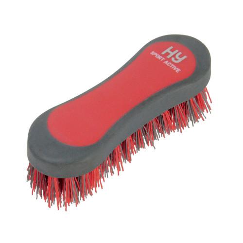 Hy Sport Active Groom Hoof Brush - Rosette Red - 12.3 x 4cm