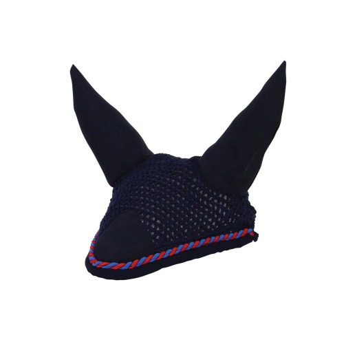 Hy Signature Fly Veil in Navy, Blue and Red in pony
