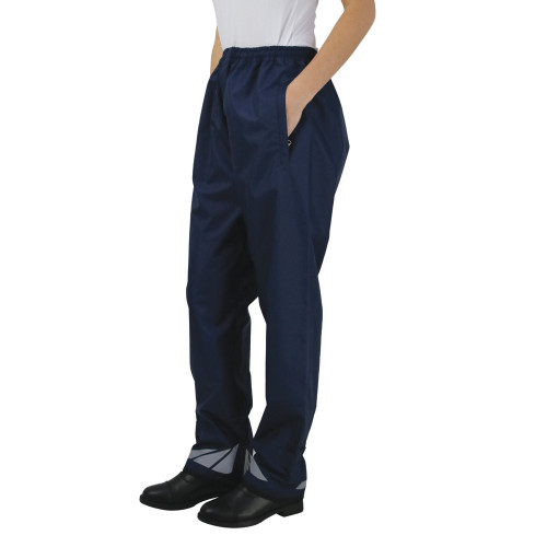 Hy Equestrian Waterproof Pull-On Over Trousers - Navy - Child 4-6 Years