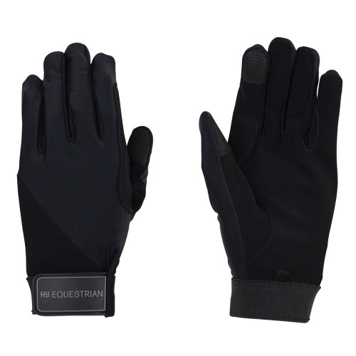 Hy Equestrian Absolute Fit Glove in Black in Child extra small