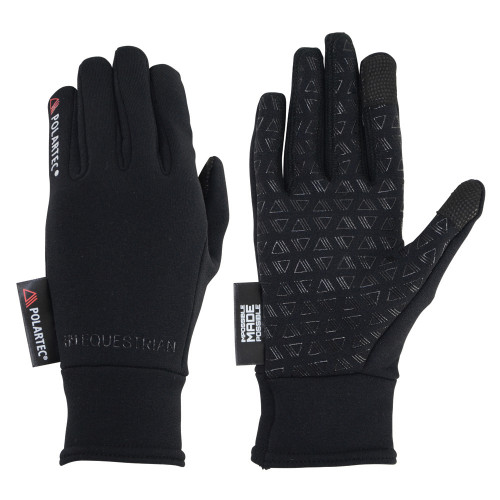 Hy Equestrian Polartec Glacial Riding and General Glove in Black in extra small