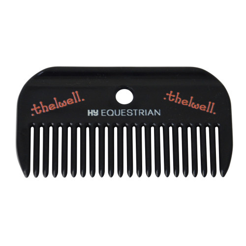 Hy Equestrian Thelwell Collection Mane Comb-Navy/Red-One Size