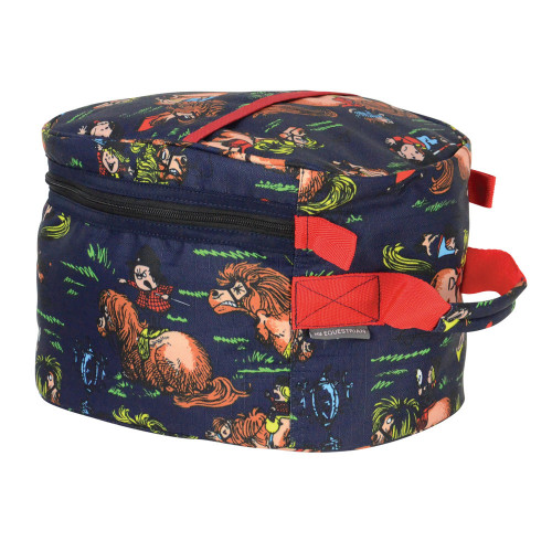 Hy Equestrian Thelwell Collection Hat Bag-Navy/Red-One Size