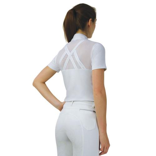 Hy Equestrian Suki Show Shirt-White-X Small