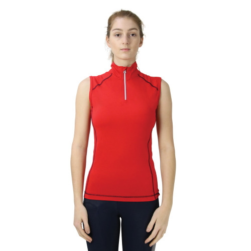 Hy Sport Active + Sleeveless Top - Rosette Red - X Small
