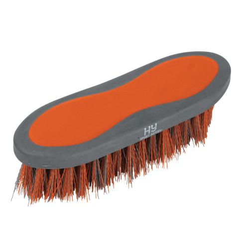 Hy Sport Active Dandy Brush -Terracotta Orange-20.5 x 6.2cm