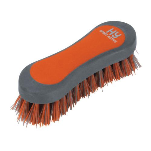 Hy Sport Active Face Brush-Terracotta Orange-12.3 x 4cm