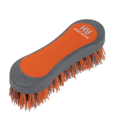 Hy Sport Active Hoof Brush -Terracotta Orange-12.3 x 4cm
