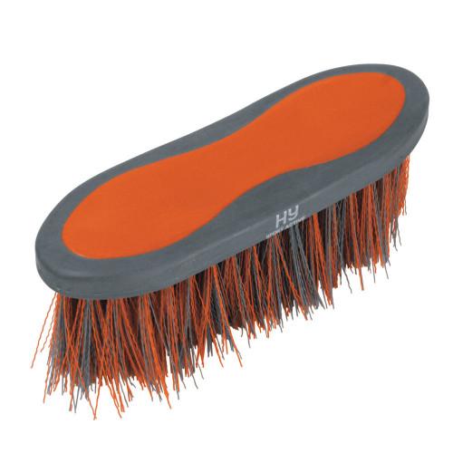 Hy Sport Active Groom Long Bristle Dandy Brush - Terracotta Orange - 20.5 x 6.2cm