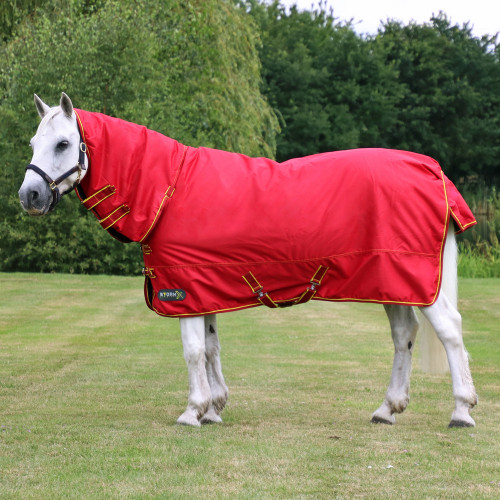 StormX Original 200 Combi Turnout Rug in Red, Dark Red, Yellow in 4'6""