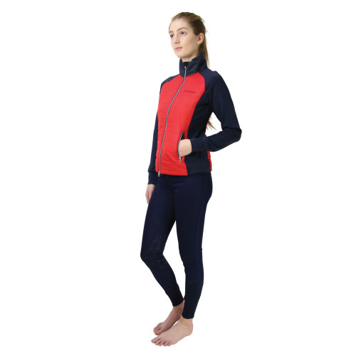Hy Equestrian Richmond Collection Padded Jacket -Navy/Red-X Small
