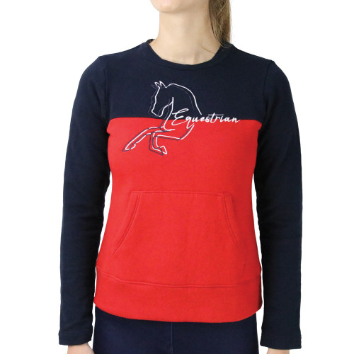 Hy Equestrian Richmond Collection Jumper-Navy/Red-X Small