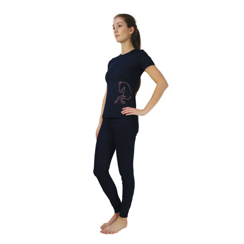 Hy Equestrian Richmond Collection T- Shirt -Navy-X Small