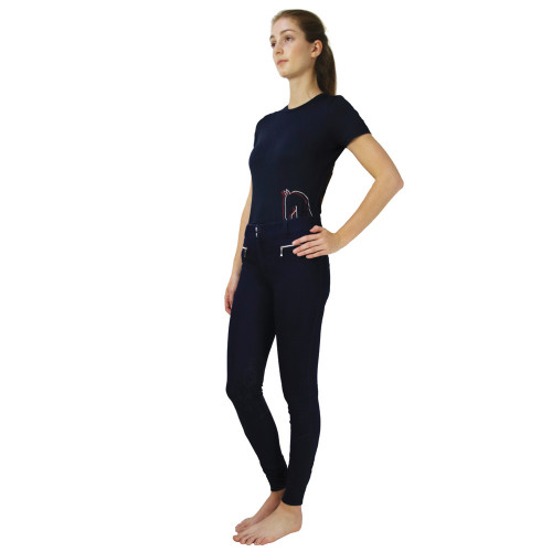 """Hy Equestrian Richmond Collection Breeches -Navy-24"""""""