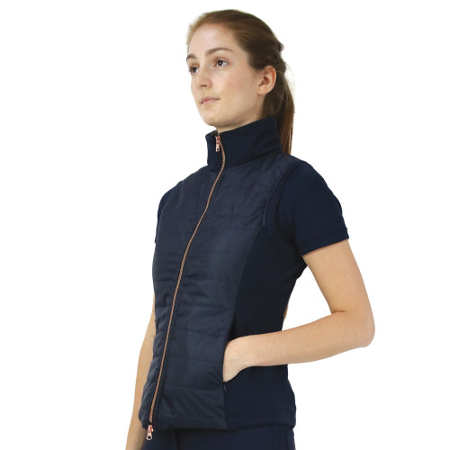 Hy Equestrian Exquisite Bit and Stirrup Collection Gilet-Navy -X Small
