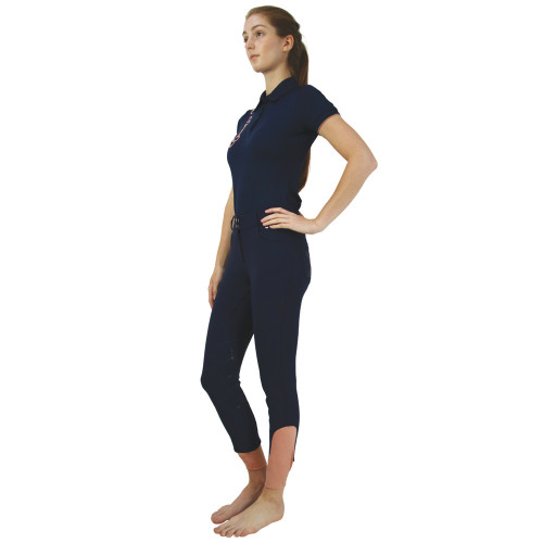 """Hy Equestrian Exquisite Bit and Stirrup Collection Breeches-Navy -24"""""""