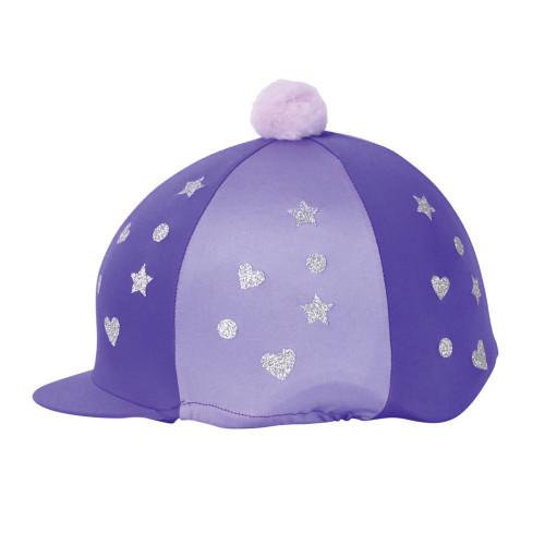 Hy Equestrian Glitter Magic Hat Cover - Purple/Lilac -