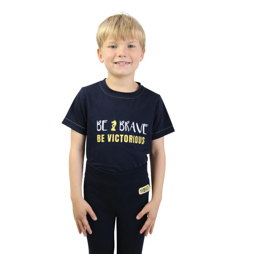 Be Brave T-Shirt by Little Knight - Navy/Yellow - 3-4 Years