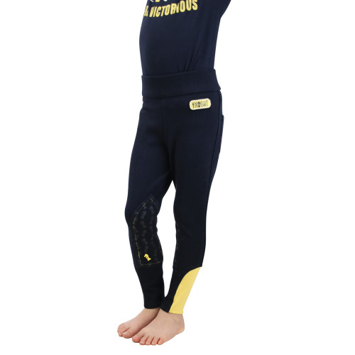 Be Brave Tots Jodhpurs by Little Knight - Navy/Yellow - 3-4 Years
