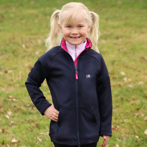 Sue Softshell Jacket by Little Rider - Navy/Pink - 3-4 Years