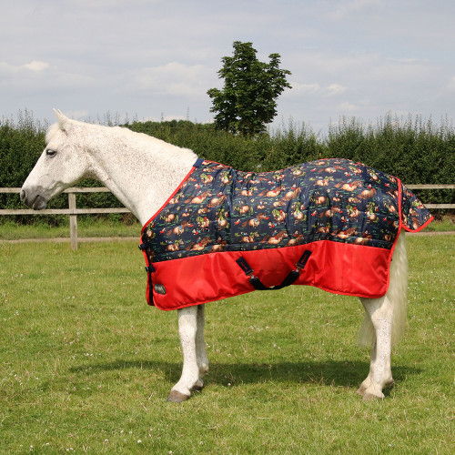 """StormX Original 100 Stable Rug - Thelwell Collection - Navy/Red - 3'0"""""""