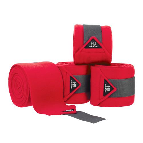 Hy Sport Active Luxury Bandages - Rosette Red - Cob/Full