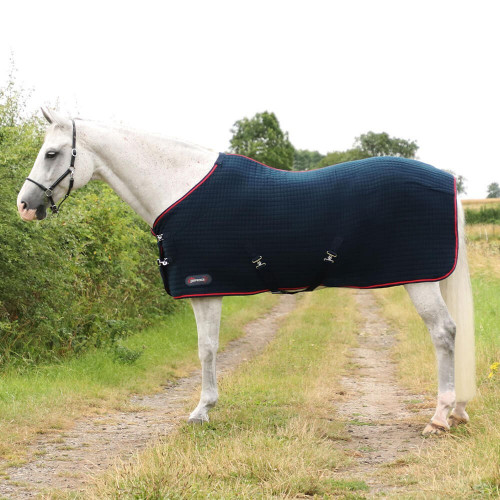 """DefenceX System Cool Control Rug - Navy/Red - 4'6"""""""