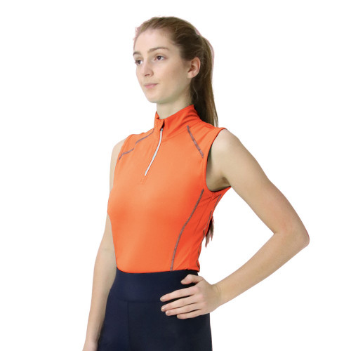 Hy Sport Active Sleeveless Top - Terracotta Orange - X Small