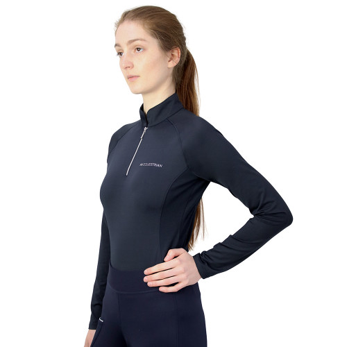 Hy Equestrian Synergy Base Layer - Navy - X Small