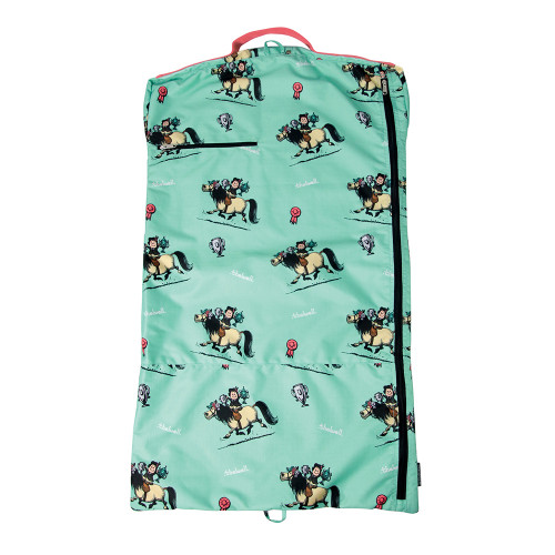 Hy Equestrian Thelwell Collection Children's Trophy Garment Bag - Mint/Pink - One Size