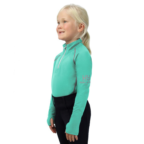 Hy Sport Active Young Rider Base Layer - Spearmint Green - 5-6 Years