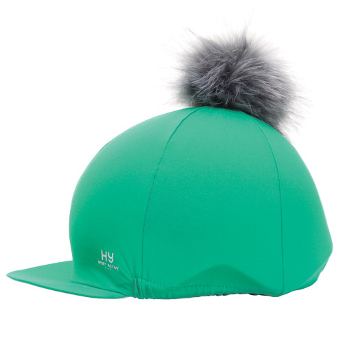 Hy Sport Active Hat Silk with Interchangeable Pom Pom - Emerald Green - One Size