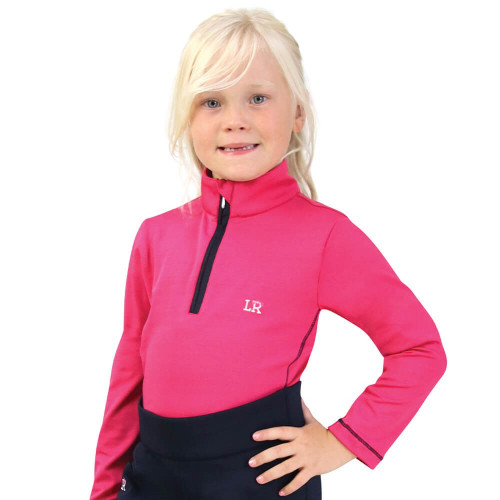 Sara Base Layer By Little Rider - Pink/Navy - 3-4 Years