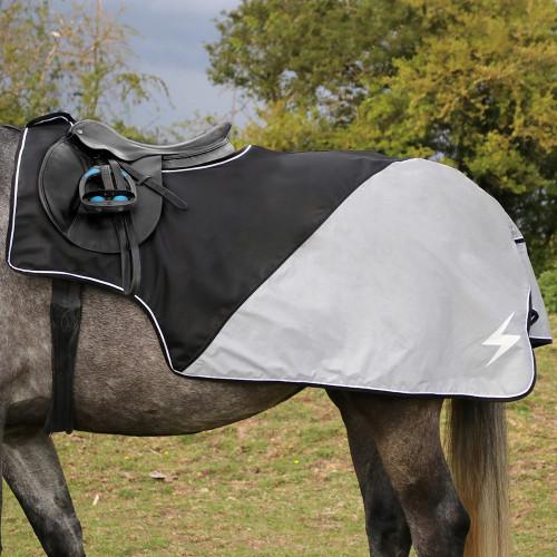 "Silva Flash Waterproof Exercise Sheet by Hy Equestrian - Reflective Silva - 4'6"""
