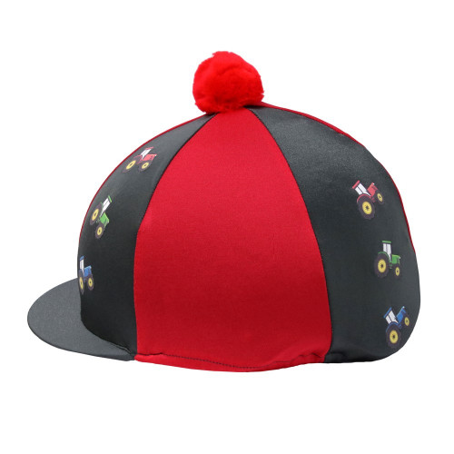 Tractor Collection Hat Cover by Little Knight - Charcoal Grey/Red - One Size