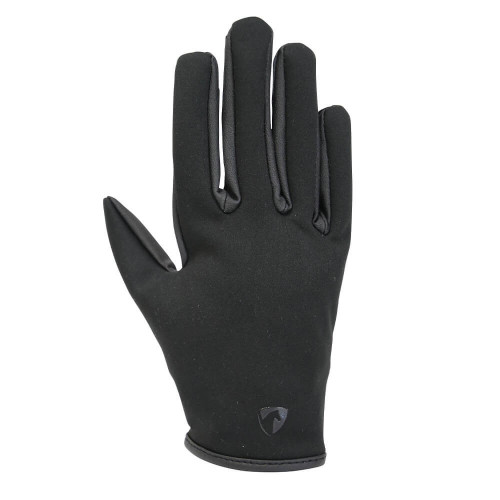 Hy Equestrian Children's Softshell Comfort Riding Gloves - Black - Child X Small