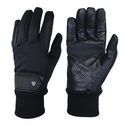 Hy Equestrian Thinsulate™ Rainstorm Gloves - Black - X Small