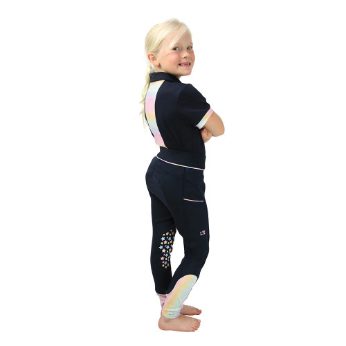 Dazzling Dream Polo Shirt by Little Rider - Navy/Pastel - 3-4 Years