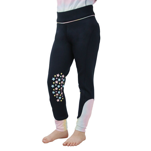 Dazzling Dream Riding Tights by Little Rider - Navy/Pastel - 3-4 Years