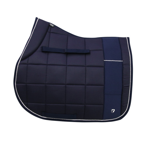 Hy Equestrian Synergy Saddle Pad - Navy/Silver - Pony