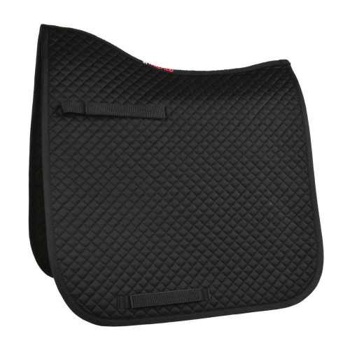 Full View HyWITHER Competition Dressage Pad in Black in Cob/Full Size