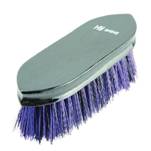 HySHINE Wooden Dandy Brush in Black/Purple
