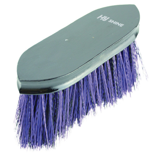HySHINE Wooden Flick Dandy Brush in Black/Purple