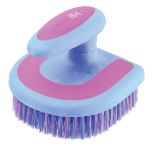 HySHINE Horseshoe Brush in Blue/Pink