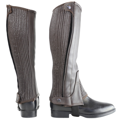HyLAND Leather Half Chaps in Brown in extra small