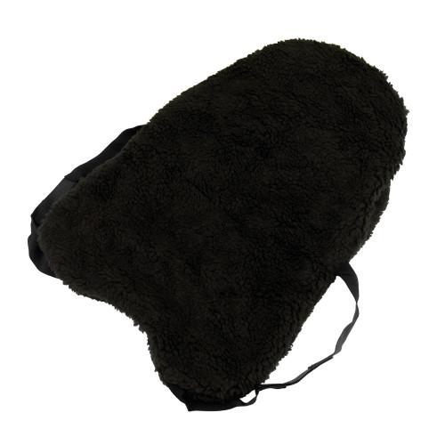 Hy Fur Fabric Seat Saver - Black